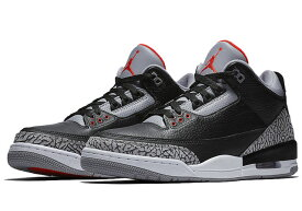 NIKE AIR JORDAN 3 RETRO OG BG【Black Cement】ナイキ エアジョーダン 3 レトロ OG BGBLACK/FIRE RED-CEMENT GREY