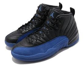 NIKE AIR JORDAN 12 RETROナイキ エアジョーダン 12 レトロ XII メンズ バスケットボール シューズ 黒青 BLACK/GAME ROYAL-BLACK
