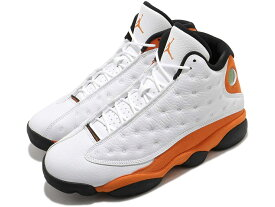 NIKE AIR JORDAN 13 RETROナイキ エアジョーダン 13 レトロ XIII メンズ バスケットボール シューズ白オレンジ White/Black-Starfish 21-01-0141#100