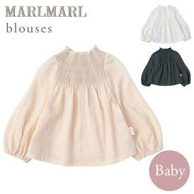 マールマール ブラウス MARLMARL blouses (70-90cm)シャーリング ピンク / ホワイト / ネイビー【マールマール ブラウス】【ベビー服 女の子】【赤ちゃん 服 女の子】【ハーフバースデー 服】【出産祝い 女の子】【誕生日 ギフト】【2021atm09】【即納】