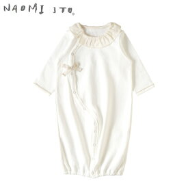 ナオミイトウ NAOMI ITO 2wayドレス オフホワイト (わたげ) 【ベビードレス】【セレモニードレス】【ベビー ウェア】【2way】【ベビー服】【ギフト】【出産祝い】【日本製】【Made in Japan】【即納】
