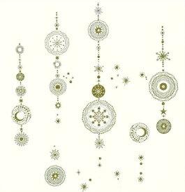 【ガラス専用ステッカー 輪飾り】インテリア ウォールステッカー パーティー キラキラ クリスマス 輪っか 壁飾り 金色 ハウスジーダ A4サイズ