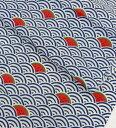 【手ぬぐい すいかいは】【捺染】【濱文様】夏柄 てぬぐい 手拭い スイカ 青海波 小紋