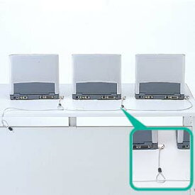 PCのセキュリティスロットに取付け複数台を連結するためのロック付き短ワイヤー。eセキュリティ(SL-31連結用) SLE-7S サンワサプライ【ネコポス対応】