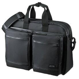 【訳あり 新品】PCバッグ 15.6インチワイドまで対応 ビジネス 超撥水 軽量 ブラック BAG-LW9BK サンワサプライ ※箱にキズ、汚れあり