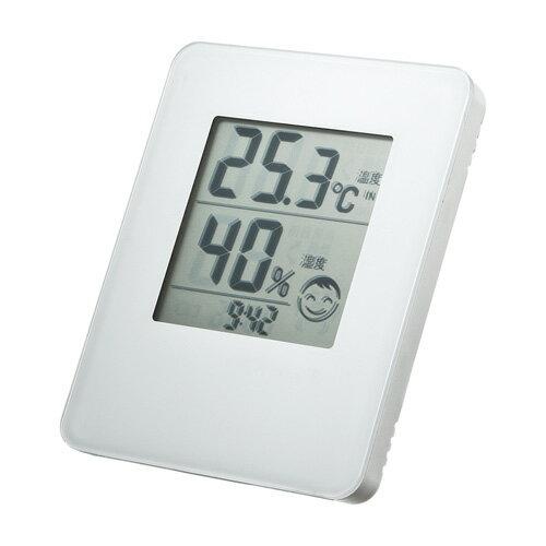 【訳あり 在庫処分】デジタル温湿度計(ホワイト・外部温測定センサー付き) サンワサプライ CHE-TPHU3 サンワサプライ