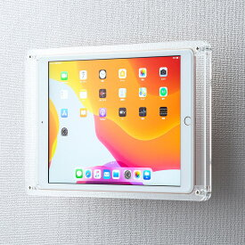 10.2インチiPad 2019用ケース アクリル VESA100×100対応 壁掛け モニターアーム取付 CR-LAIPAD14 サンワサプライ