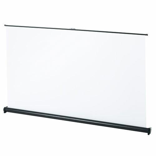 モバイルスクリーン 50インチ ワイド(HD・机上式・卓上・自立式・持ち運び・プロジェクター・高画質・小型・軽量) EEX-PCM3-50KHD
