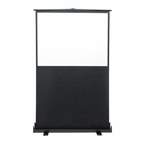 プロジェクタースクリーン 60インチ(4:3・自立式・床置き・収納・パンタグラフ・モバイル) EEX-PSY1-60V
