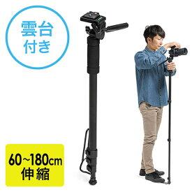 カメラ一脚(雲台付・コンパクト・4段伸縮・レバーロック) EZ2-DGCAM016
