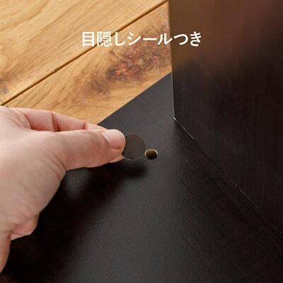 ダイソン用壁掛け収納スタンド(スティッククリーナー汎用スタンド・アタッチメント収納対応・収納ボックス付・木目・ブラック)