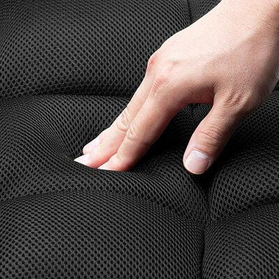座椅子(リクライニング・クッション・メッシュ・通気性・背もたれ・肘付き・足置き・おすすめ・ブラウン)_EEX-CH68ZBR