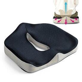 椅子 クッション 低反発 姿勢 腰痛 対策 メッシュ 蒸れにくい 厚い 座布団 テレワーク 在宅勤務 EEX-CHC03