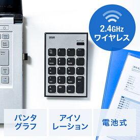 ワイヤレステンキー(無線・モバイル・持ち運び・薄型・小型・パンタグラフ・アイソレーション・電池式) EZ4-NT002【ネコポス対応】