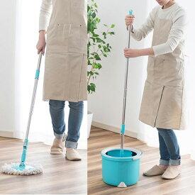 回転モップ 水拭きモップ クリーナー 床掃除 床モップ バケツつき 200-CD060