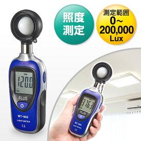 小型ライトメーター(照度計・ルクスメーター・デジタル表示)
