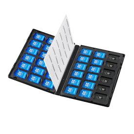 メモリーカード管理ケース(DVDトールケース型、SDカード、microSDカード用) FC-MMC25SDM サンワサプライ