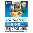 ペーパークラフト用紙 (厚手・両面つやなし・A4・30枚) JP-EM1NA4N サンワサプライ【ネコポス対応】