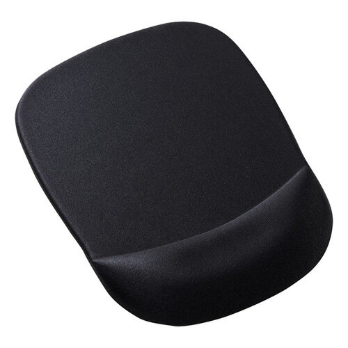 低反発リストレスト付きマウスパッド(ブラック) MPD-MU1NBK サンワサプライ