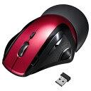 レーザーマウス(エルゴノミクス・ワイヤレス・レッド) サンワサプライ MA-WLS70R サンワサプライ【送料無料】