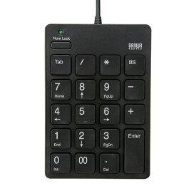 2ポートハブ付きで、凹凸の少ないアイソレーションタイプのUSB2.0ハブ付きテンキー(ブラック) NT-18UH2BK サンワサプライ