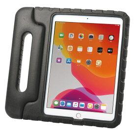 タブレットケース iPad 10.2インチ用 第7世代 衝撃吸収 セミハード 子供用 ハンドル ブラック PDA-IPAD1605BK サンワサプライ