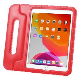 タブレットケース iPad 10.2インチ用 第7世代 衝撃吸収 セミハード 子供用 ハンドル レッド PDA-IPAD1605R サンワサプライ