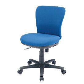 背・座に型崩れしにくい成型ウレタン使用、すわり心地抜群のミドルバックのオフィスチェア(肘無し・ブルー) SNC-021KBL サンワサプライ