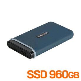 SSD 960GB USB3.1 Gen2 Type-C コンパクト 耐衝撃 TS960GESD350C トランセンド