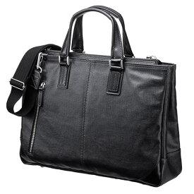 ビジネスバッグ(日本製・豊岡製・児島・岡山デニム・撥水加工・ショルダーベルト付・ブラック) EZ2-BAG140BK
