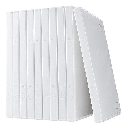 【割引クーポン配布中〜3/26 01:59まで】DVDケース(1枚収納・トールケース・10枚・ホワイト)