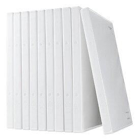 DVDケース 1枚収納 トールケース 10枚 ホワイト 200-FCD032W