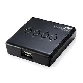 USB切替器(手動・4台用・USB2.0・プリンタ・外付けHDD・ワイヤレスキーボード&マウス対応)