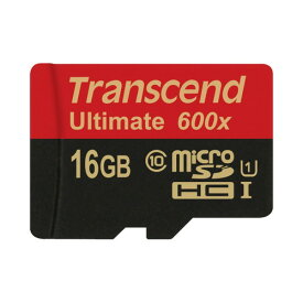 Transcend社製 microSDHCカード 16GB Class10 UHS-I対応 Ultimate SDカード変換アダプタ付 TS16GUSDHC10U1【ネコポス対応】