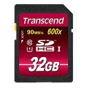 SDHCカード 32GB Class10 UHS-I対応 Ultimate Transcend社製 TS32GSDHC10U1(最大転送速度 90MB/s)【ネ...