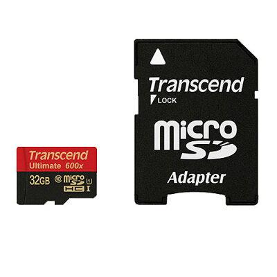 microSDHCカード_32GB_Class10_UHS-I対応_SDカード変換アダプタ付_Ultimate_Transcend社製_TS32GUSDHC10U1(最大転送速度_90MB/s)