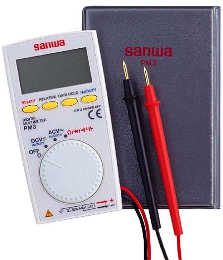 【即日発送】PM3 (PM-3)三和電気計器(sanwa)デジタルマルチメーター薄型ポケットタイプテスター【あす楽対応】