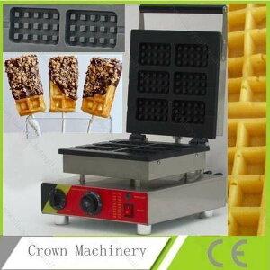 ワッフルメーカー 業務用 スティック型 6個作成可能 110v 電気 チョコレートクリームワッフルスティックメーカー アイアン