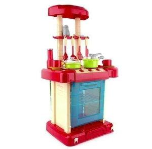 多機能 おままごとキッチン セット 知育玩具 レッドorピンク 新品