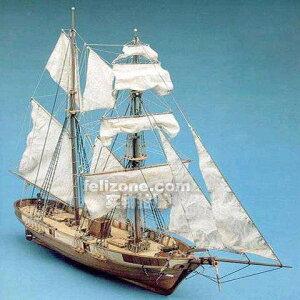 ★スケール1/55 フランス クラシック船 モデル le hussard 1848 軍艦 木製 模型キット★