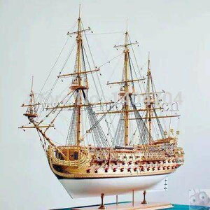スケール1/50ラグジュアリークラシックセーリングボートサンフェリペの木製模型軍艦モデルキット説明書
