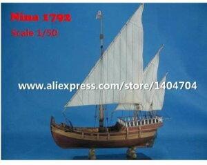 イタリア 帆船 コロンブス 遠征 フリートニーナ 1792 1/50スケール 船 ボート 木製 模型 プラモデル キット 組み立て式