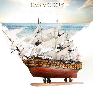 英国海軍 ヴィクトリー 船 帆船 ボート ヨット 木製 模型 木製パズル モデルキット 組み立て式