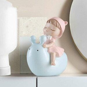 かわいい子 カタツムリに乗る 気球カタツムリ デコレーション 漫画 寝室 クリエイティブ 学習室 居間 薄い灰色