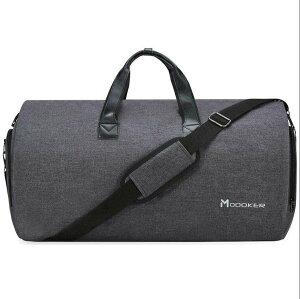 Modoker 旅行ガーメントバッグとショルダーストラップダッフルバッグにキャリースーツケース服ビジネスバッグ複数のポケット