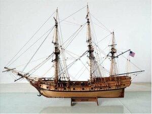 米国 ガラガラヘビ 1782 1/50スケール 船 帆船 ボート ヨット 木製 模型 モデルキット プラモデル キット 組み立て式