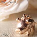 豚ぶたピッグアニマル地金ペンダントネックレスK18PGピンクゴールド【送料無料】