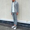 SLOWGAN スローガン ワッフル セットアップ GRAY(グレー) メンズファッション スーツ ジャケット コットンパンツ スウ…
