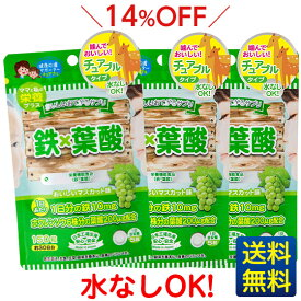 【おいしいお手軽サプリ 鉄×葉酸】150粒×3ヶ月分/ジャパンギャルズ/栄養機能食品/葉酸サプリメント/マスカット味