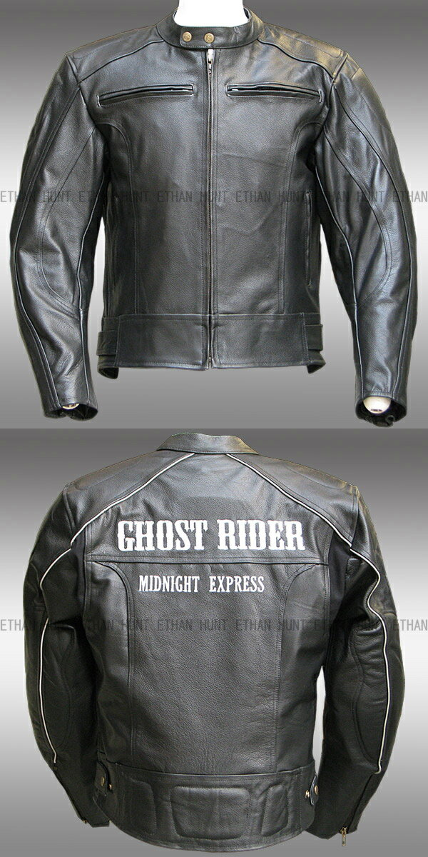 【Clooney】GHOST RIDER 本革 カウハイド レザージャケット 【牛革】メンズ 革ジャン ゴーストライダー ライダース シングル 皮ジャン 送料無料